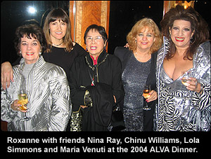 Roxanne and friends at a recent ALVA function