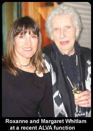 Roxanne and Margaret Whitlam at a recent ALVA function